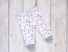 PNW Love Organic Baby Leggings - Coral / Mint / Grays / White - CAVU Creations