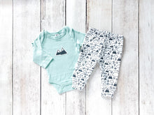 PNW Love Organic Baby Leggings - Charcoal Gray / White - CAVU Creations