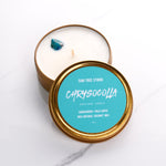 Chrysocolla Gemstone Candle