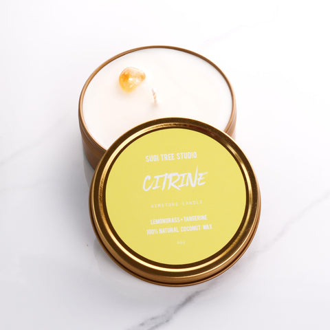 Citrine Gemstone Candle