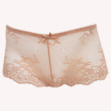 Boyshort Daily Lingadore front blush shiny reflect sheer floral lace