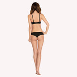 Brazilian Thong Lynn Parfait back black sportswear seam free minimal cover model