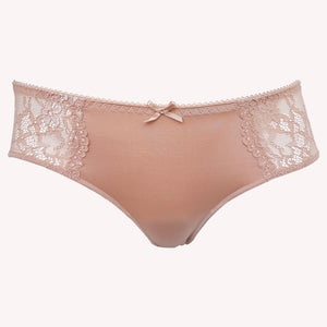 Hipster Daily Lingadore front blush sheer floral lace shiny