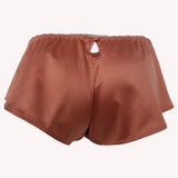 back Short Universe french knicker Lingadore soft satin warm copper key hole