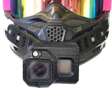 Chinster helmet camera mount
