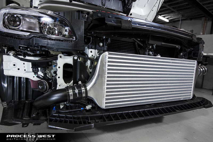 Process West - Front Mount Intercooler Kit (STi VA 15-20) Silver Core