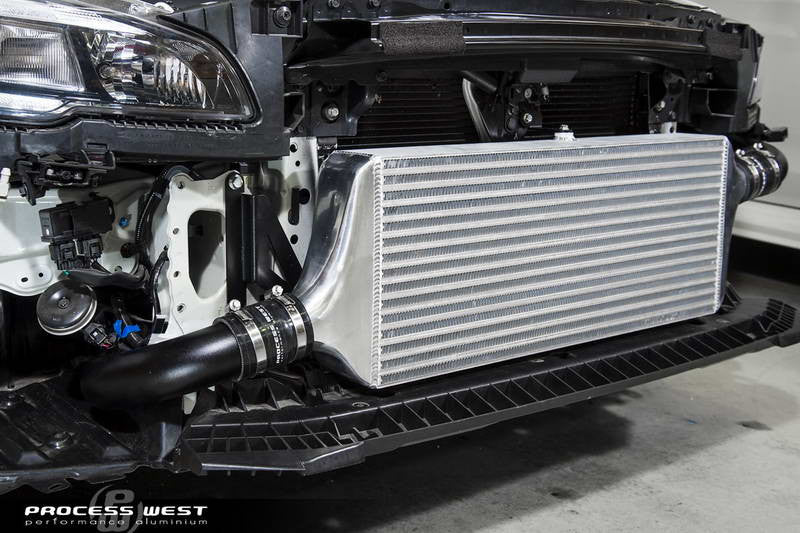 Process West - Front Mount Intercooler Kit (WRX VA 15-18) Black Core