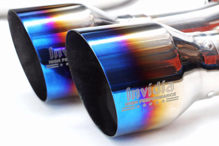 Invidia R400 Turbo back Exhaust - Ti Tips (WRX 15+ CVT/Auto)