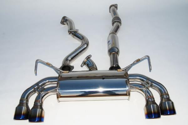 Invidia Q300 Turbo back Exhaust - Ti Tips (STI 08-14 Hatch)