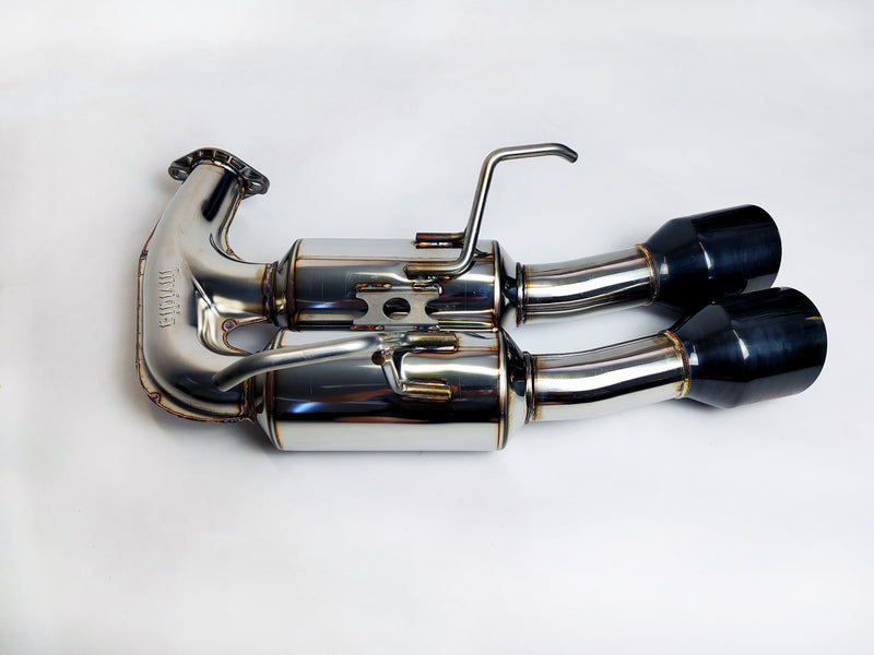 "Invidia R400 "" Signature Series"" Cat back Exhaust - BLACK Tips (STi 15-19 Sedan)"
