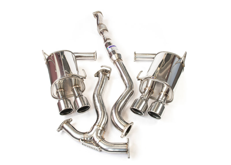 Invidia Q300 Turbo back Exhaust - SS Tips (WRX/STi Sedan 11-14)