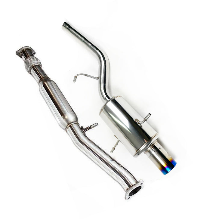 Invidia G200 Cat back Exhaust with Ti Rolled Tip (Forester SF GT 97-02)