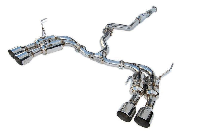 Invidia R400 Turbo back Exhaust - SS Tips (WRX/STi 11-14 Sedan)
