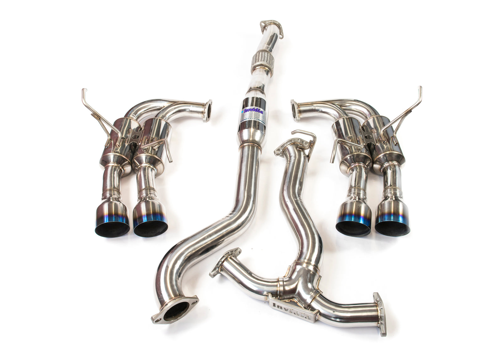 Invidia R400 Turbo back Exhaust - Ti Tips (WRX 11-14 Hatch)
