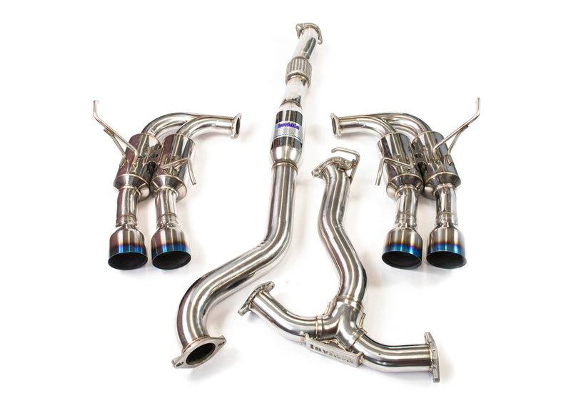 Invidia R400 Cat back Exhaust - Ti Tips (WRX/STi 15-19 Sedan)