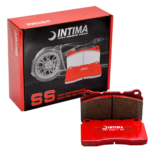 Intima SS Brake pads - Rear (STI Brembo 18-20) - Fluro Yellow Caliper