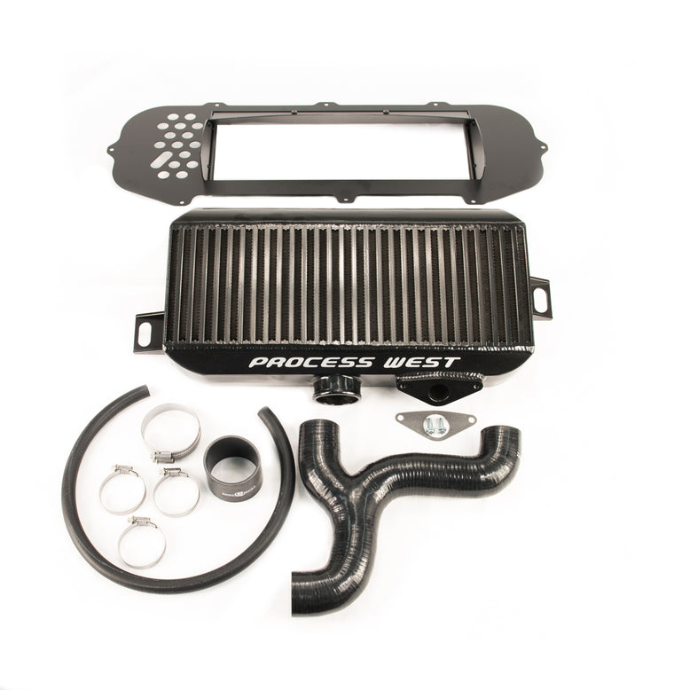 Process West - Top Mount Intercooler Kit (STi GD 01-02) - Black Core