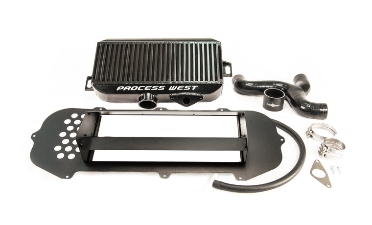 Process West - Top Mount Intercooler Kit (STi GD 03-05) - Black Core