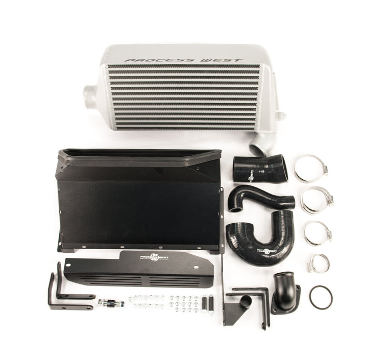 Process West - Verti-Cooler Intercooler Kit (Forester XT 08-13) Silver Core