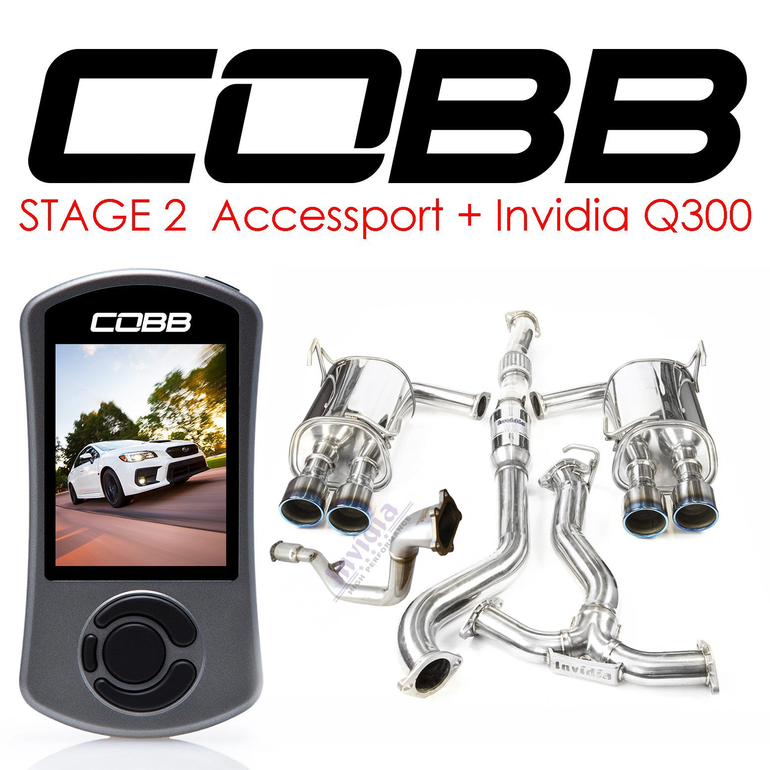 Cobb Tuning Accessport & Invidia Q300 Turbo Back - WRX/STi (08-14)