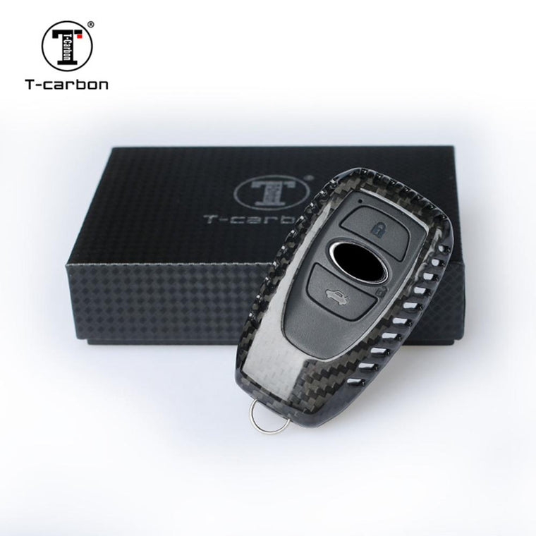 T Carbon Subaru Key Fob Cover - Black