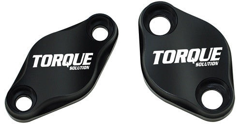 Torque Solution -  Air Pump Delete Plate Set : Subaru - Black