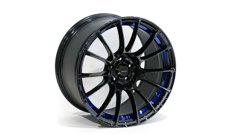 WedsSport - SA-72R -18×9.5 +38 - 5×114.3 - Blue Light Chrome (BLCII)