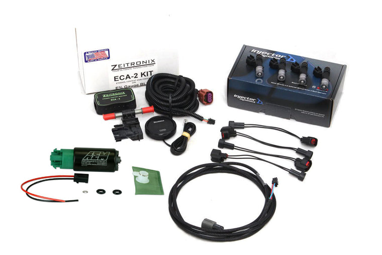 Zeitronix/ID1050/AEM Flex Fuel Combo Package RED Forester XT (08-13)