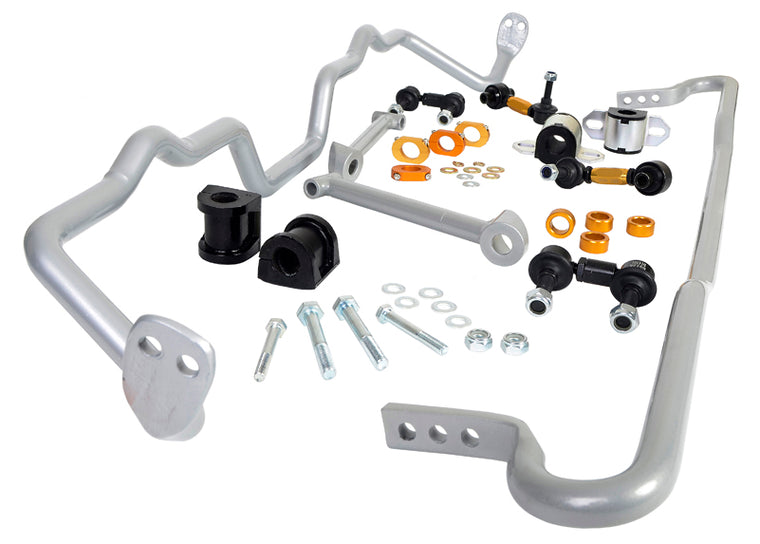 Whiteline - Complete Front and Rear Sway bar kit - BSK015 - LIBERTY BM/BR (09-14)