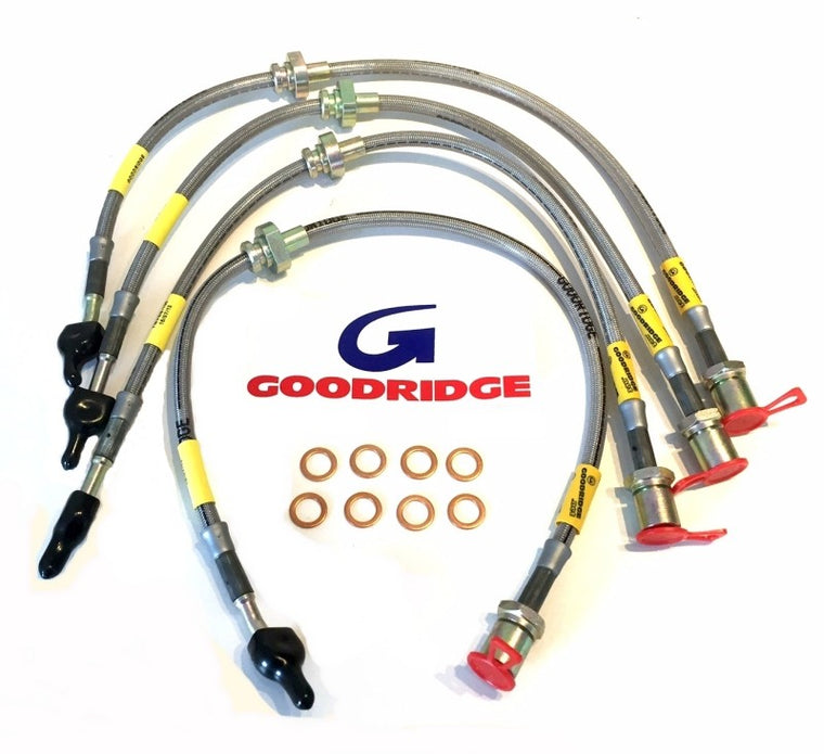 Goodridge - Braided Brake Line kit (STi GR/GV 08-14)