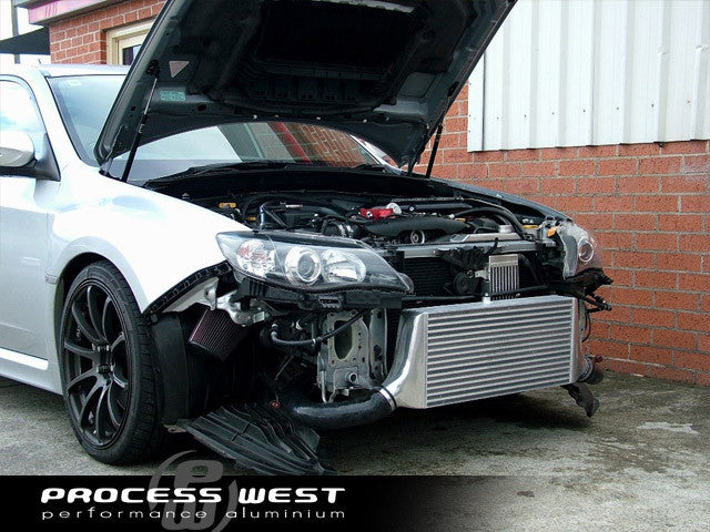 Process West - Front Mount Intercooler Kit (STi GR/GV 08-14) Silver Core