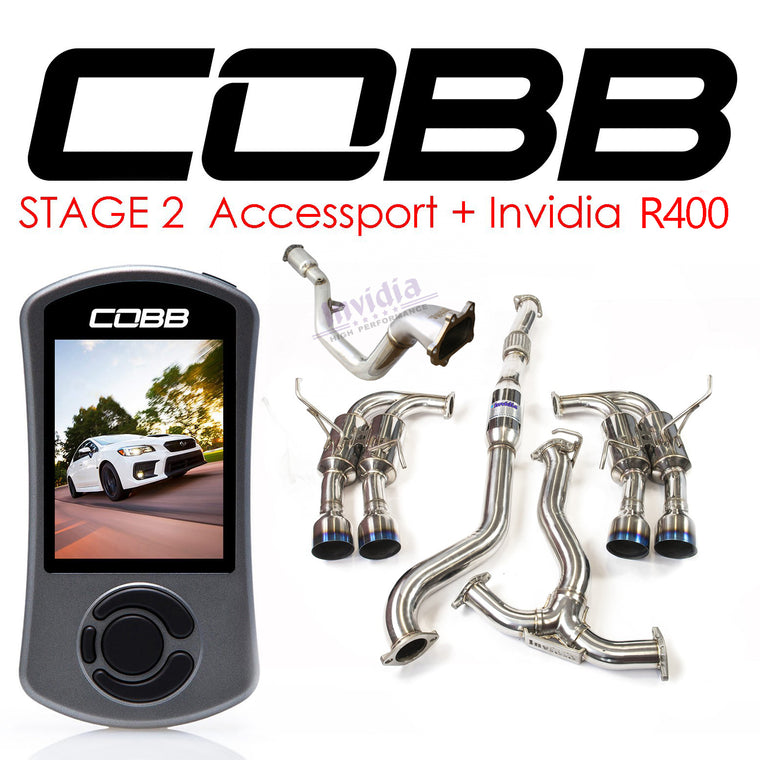 Cobb Tuning Accessport & Invidia R400 Turbo Back - WRX/STi (08-14)