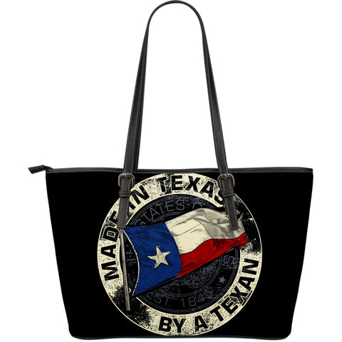 Made In Texas By A Texan Large Leather Tote Bag