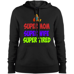 Super Mom Pullover Hooded Black Sweatshirt