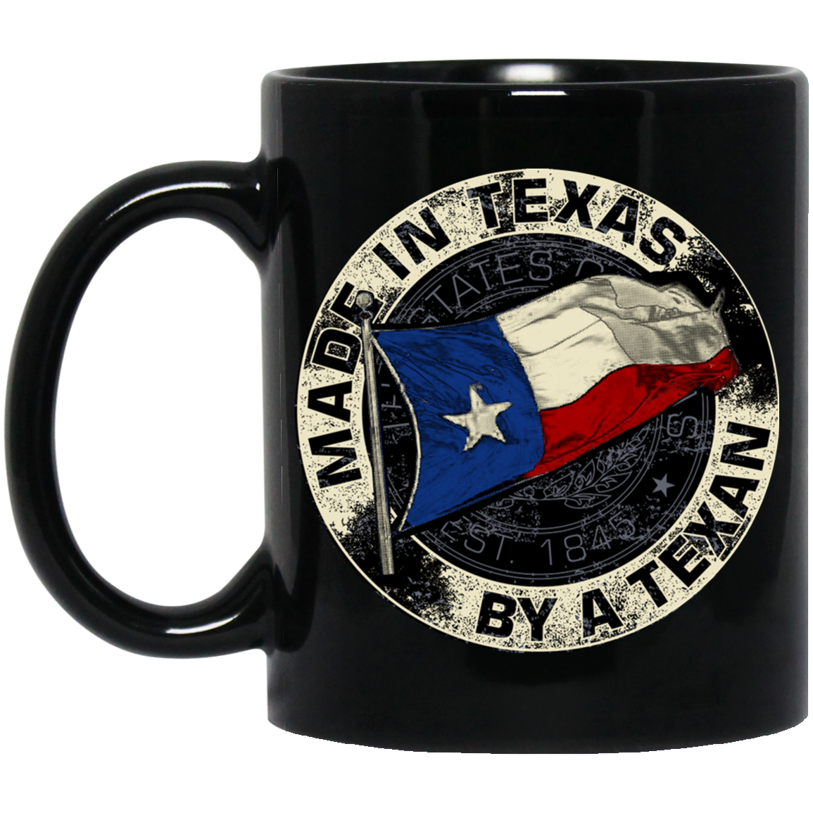Made In Texas By A Texan 11 oz. Black Mug