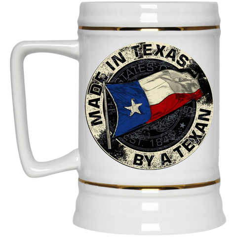 Made In Texas By A Texan Beer Stein 22oz.