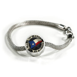 Made In Texas By A Texan Luxury Steel Charm Bracelet