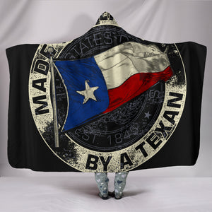 Made In Texas By A Texan Hooded Blanket