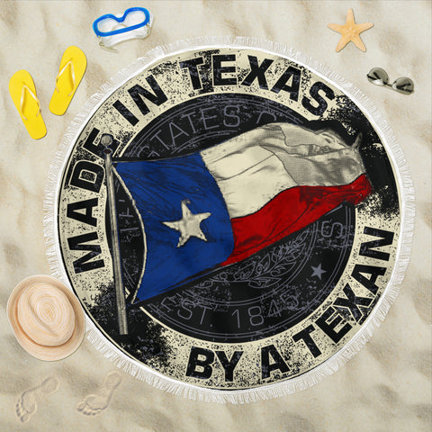 Made In Texas By A Texan Beach Towel