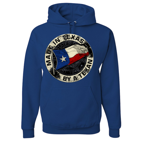 Made In Texas By A Texan Unisex Adult Hoodie