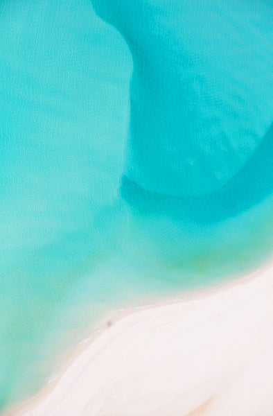 Currents, Whitehaven Beach, Vertical Print