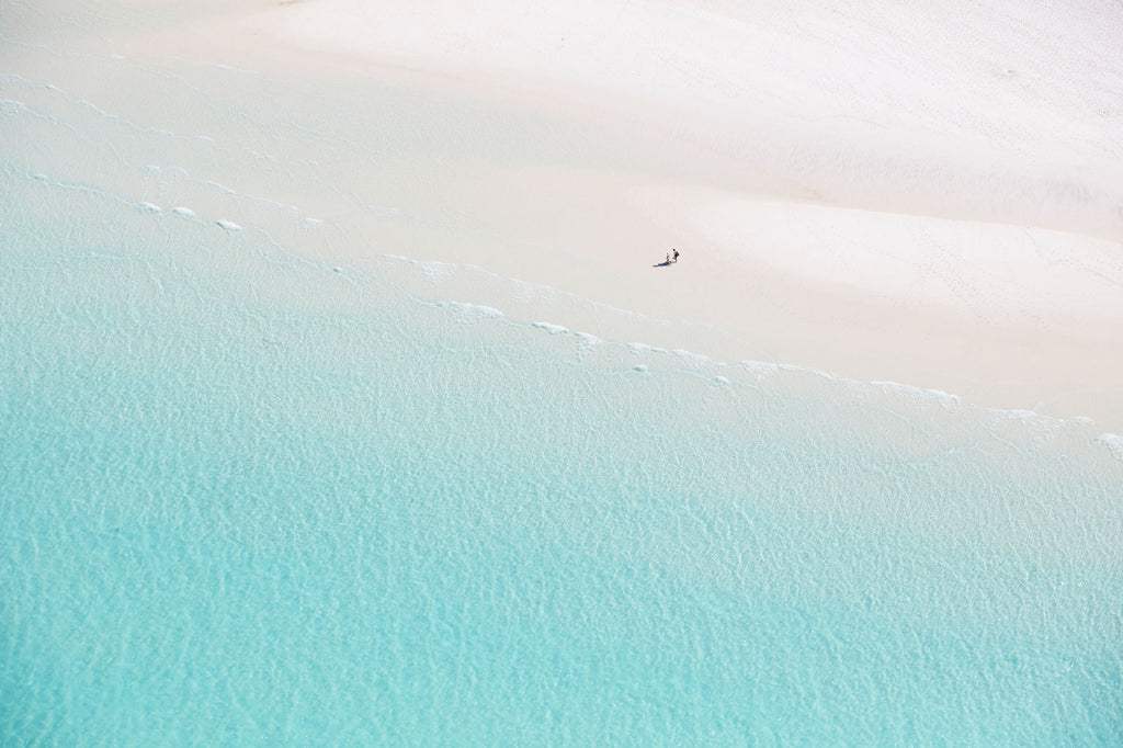 Deserted, Whitehaven Beach, Horizontal Print
