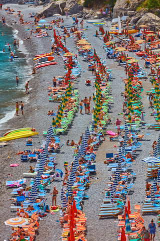 Fornillo Beach, Amalfi Coast, Vertical Print
