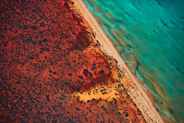Green And Blue, Shark Bay, Horizontal Print