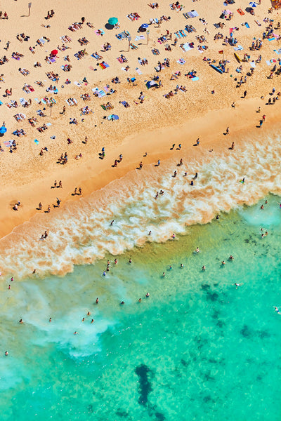 Coogee Beach, Vertical Print