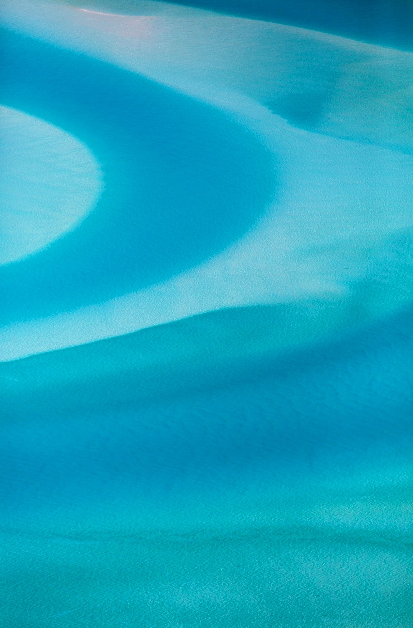 Swirls, Whitehaven Beach, Vertical Print