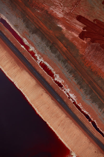 Red Mud, Western Australia, Vertical Print