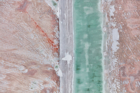 Verdigris, Great Salt Lake, Horizontal Print