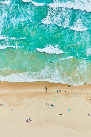 Tallow Beach, Byron Bay, Vertical Print