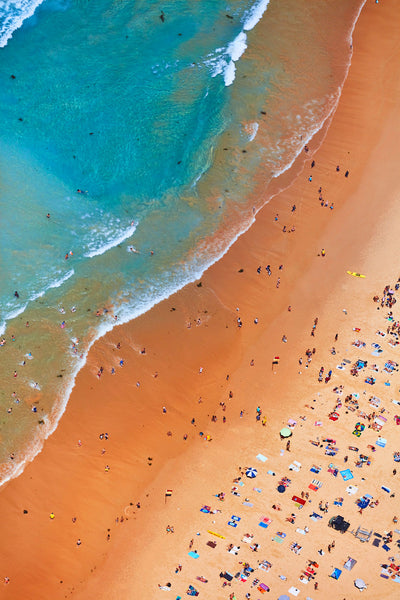 Manly Coastline, Vertical Print